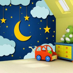 φωτοταπετσαρια παιδικη συννεφακια 5210-4d
