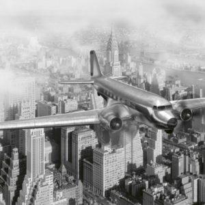 φωτοταπετσαρια τοιχου αεροπλανο MS0006
