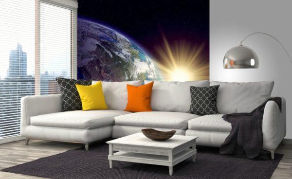 φωτοταπετσαρια τοιχου πλανητης γη MS0190