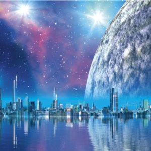 φωτοταπετσαρια τοιχου διαστημα MS0186