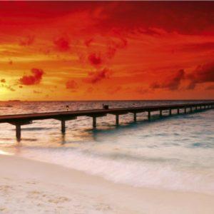 φωτοταπετσαρια τοιχου ηλιοβασιλεμα MS0191