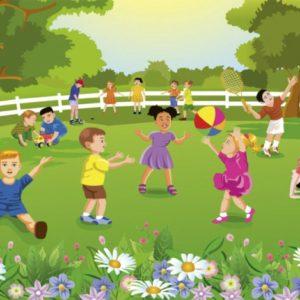 παιδικη φωτοταπετσαρια παρκο MS0343