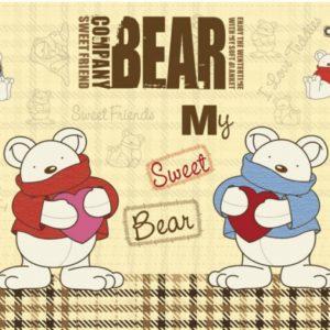 παιδικη φωτοταπετσαρια αρκουδακια MS0348